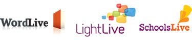 WordLive, LightLive and SchoolsLive logos